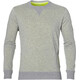 asics fuzeX Crew Top Men mid grey heather